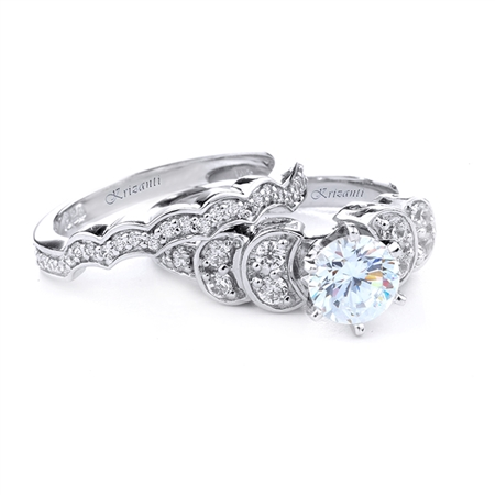 18KT.W ENGAGEMENT SET 0.46CT