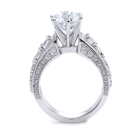 18KT WHITE ENGAGEMENT DIA-1.60CT CNTR:7.5MM