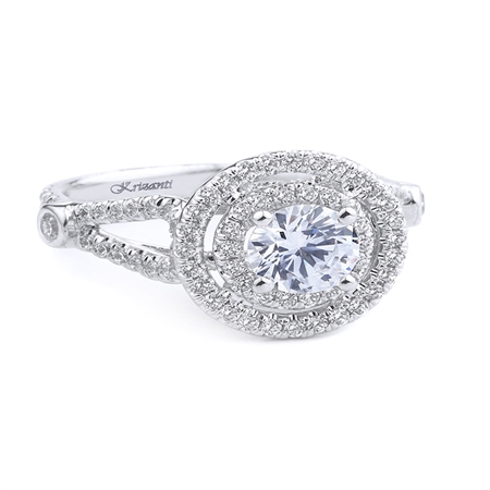 18KT WHITE ENGAGEMENT 0.77CT