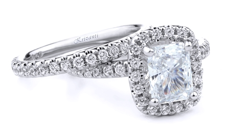 18KT.W ENGAGEMENT SET DIAM-1.96CT