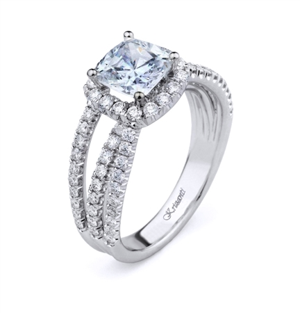 18K WHITE ENGAGEMENT 0.80ct