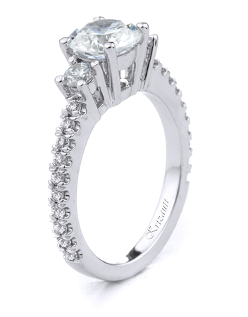 18KT.W ENGAGEMENT RING 0.50CT