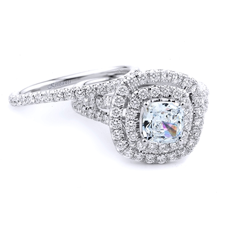 18KT WHITE ENGAGEMENT SET RING DIAMOND 1.28CT