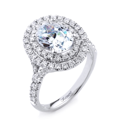 18K.WHITE ENGAGEMENT 0.80ct