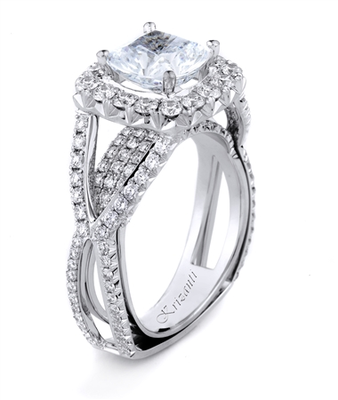 18KT WHITE ENGAGEMENT RING DIAMOND 1.47CT