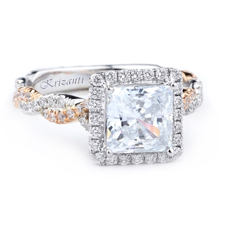 18KT 2 TONE ENGAGEMENT RING DIAMOND 0.70CT