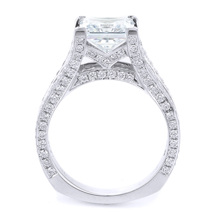 18KT WHITE ENGAGEMENT RING, DIAMOND 1.74CT