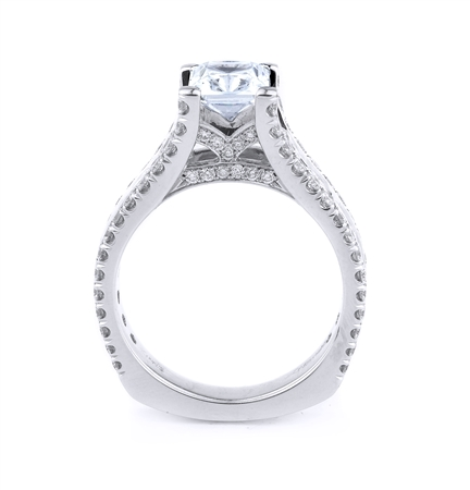 18KT WHITE ENGAGEMENT RING 1.84CT
