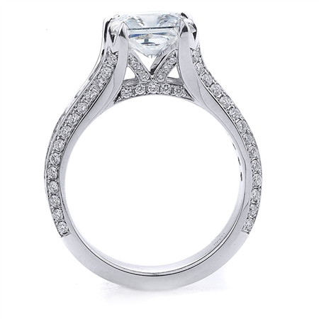18KT.W ENGAGEMENT RING BAG-1.11CT, RD-0.44CT