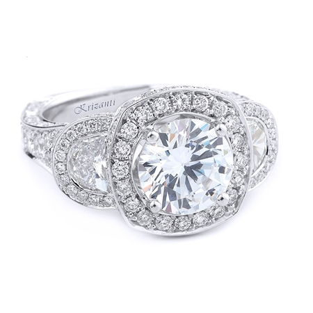 18KT.W ENGAGEMENT RING DIAM-3.21CT TW.