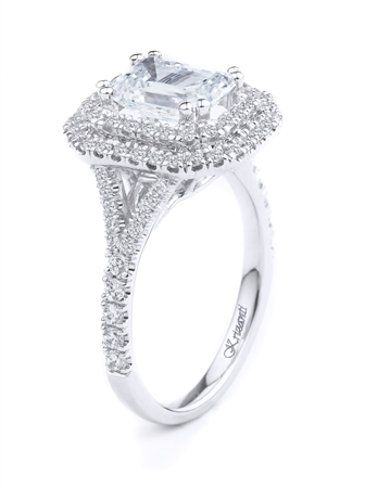18KT WHITE ENGAGEMENT RING 1.20CT