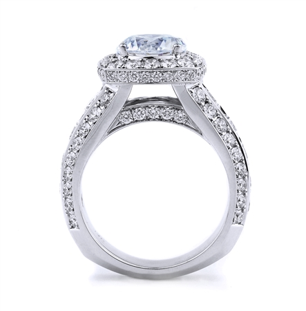 18K WHITE ENGAGEMENT RING 2.93 CT