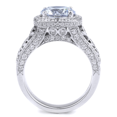 18K WHITE ENGAGEMENT RING 1.26 CT