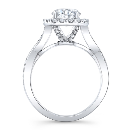 18K WHITE ENGAGEMENT 0.81ct