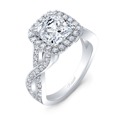 18K WHITE ENGAGEMENT 0.83ct