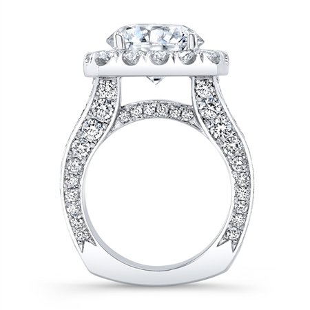 18K.WHITE ENGAGEMENT 4.75ct