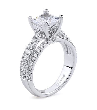 18K WHITE ENGAGEMENT 0.68ct