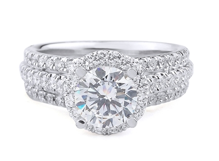 18K WHITE ENGAGEMENT 0.92ct