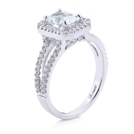 18KT WHITE ENGAGEMENT RING 0.55 CT