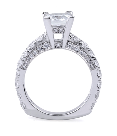 18K WHITE ENGAGEMENT RING 1.61ct