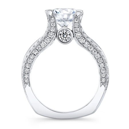 18K.WHITE ENGAGEMENT 1.93ct