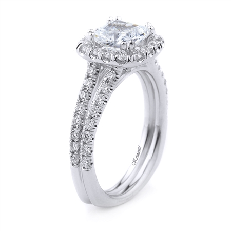 18KT WHITE ENGAGEMENT 0.74CT