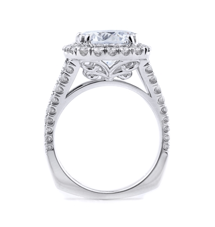 18K WHITE ENGAGEMENT RING 1.07CT