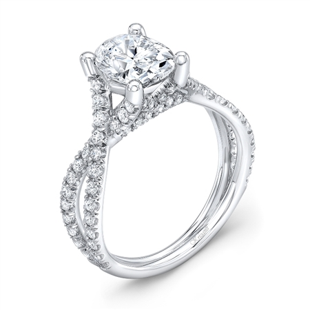 18K WHITE ENGAGEMENT 0.70ct