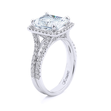 18KT WHITE ENGAGEMENT RING 0.77CT