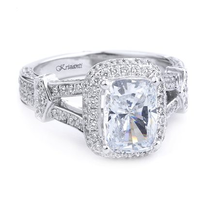 18KT WHITE ENGAGEMENT RING 1.00CT