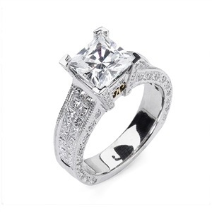 18KTW INVISIBLE SET ENGAGEMENT RING 1.67CT