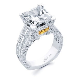 18KTW INVISIBLE SET ENGAGEMENT RING 2.40CT