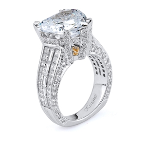 18KTW INVISIBLE SET ENGAGEMENT RING 2.56CT