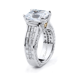 18KTW INVISIBLE SET ENGAGEMENT RING 2.62CT