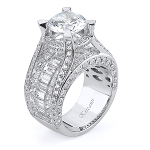 18KTW INVISIBLE SET ENGAGEMENT RING, DIAMOND 5.96CT