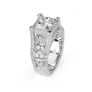 18KTW INVISIBLE SET ENGAGEMENT RING, DIAMOND 3.57CT