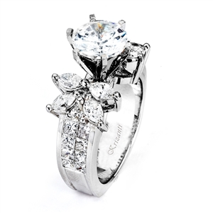 18KTW INVISIBLE SET ENGAGEMENT RING 2.02CT
