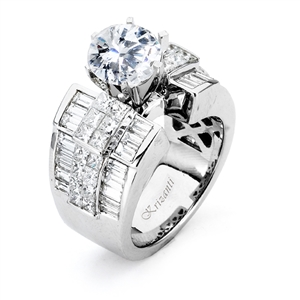 18KTW INVISIBLE SET ENGAGEMENT RING  2.90CT