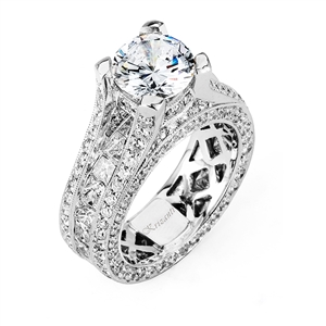 18KTW INVISIBLE SET ENGAGEMENT RING, DIAMOND 4.82CT