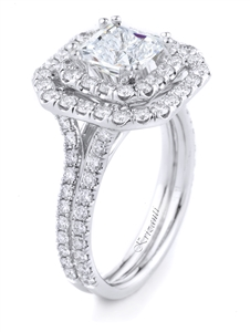 18KTW ENGAGEMENT RING, DIAMOND 1.36CT