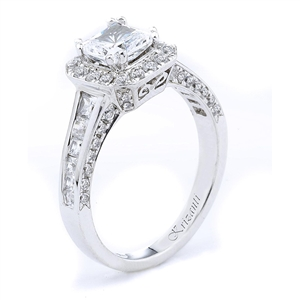 18KTW  ENGAGEMENT RING, DIAMOND 1.04CT