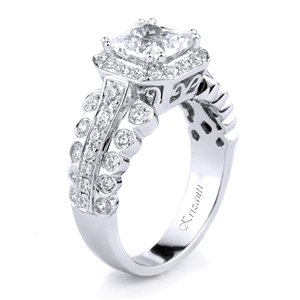 18KT WHITE ENGAGEMENT RING, DIAMOND 0.95CT