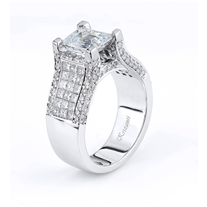18KTW INVISIBLE SET, ENGAGEMENT RING 1.75CT