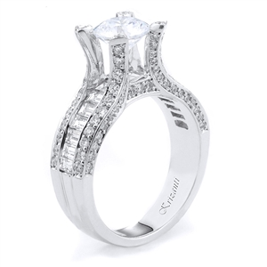 18KTW ENGAGEMENT RING, DIAMOND 1.73CT