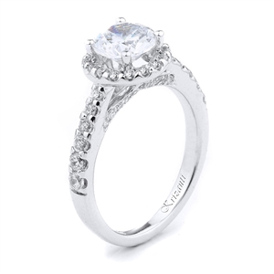 18KW ENGAGEMENT RING 0.78CT