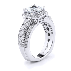 18KT WHITE ENGAGEMENT RING DIAMOND 1.03CT