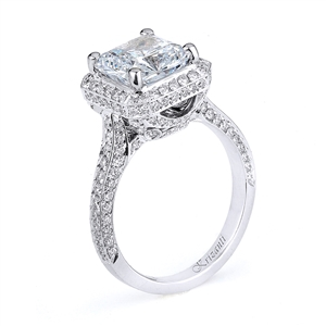 18KW ENGAGEMENT RING, DIAMOND  0.95CT