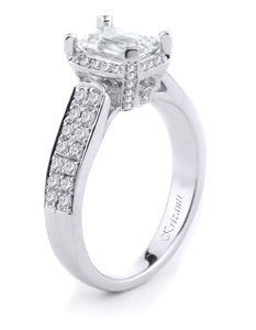 18KTW ENGAGEMENT RING, DIAMOND 0.52CT