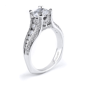 18KW ENGAGEMENT RING 0.70CT