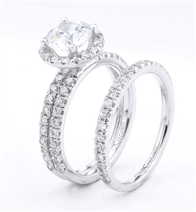 18KTW ENGAGEMENT SET, DIAMOND 1.15CT